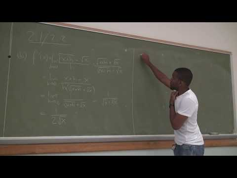 Math 201 Lecture 13 - Derivative and tangent line examples and test 1 review