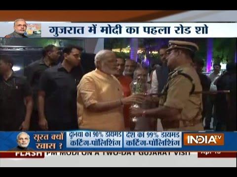 PM Modi's roadshow concludes, reaches Circuit House in Surat