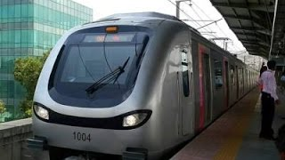 Mumbai Metro Train Arrival At Versova Station Mumbai India 2015 HD