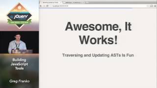 Building JavaScript Tools - Greg Franko