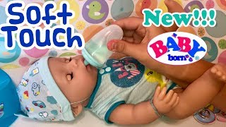 NEW Baby Born SOFT TOUCH opening details feeding features 2018 Zapf Creations
