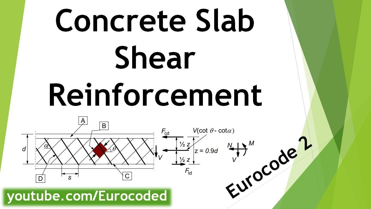 Shear Resistance of a Singly Reinforced Concrete Slab to Eurocode