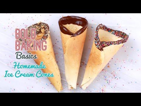 How To Make Homemade Ice Cream Cones - Gemma's Bold Baking Basics Ep  5