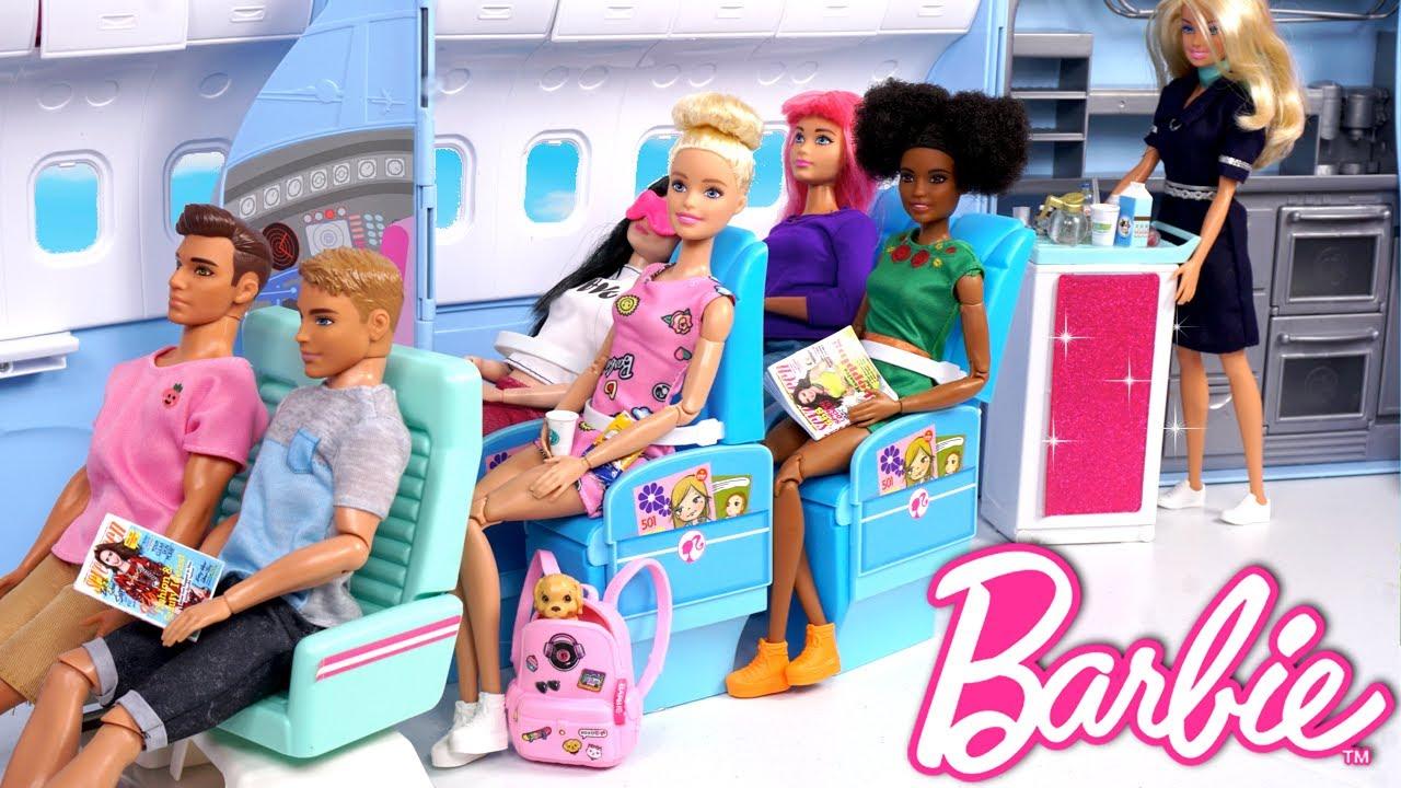 Download Barbie Doll Airplane Travel Routine - Princess Adventure Episode