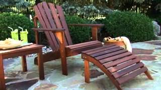 Coral Coast Hampton Deluxe Oak Adirondack Chair - Product Review Video