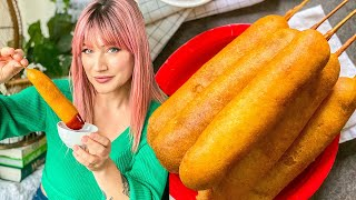Easy VEGAN Corn Dogs at Home | The Edgy Veg