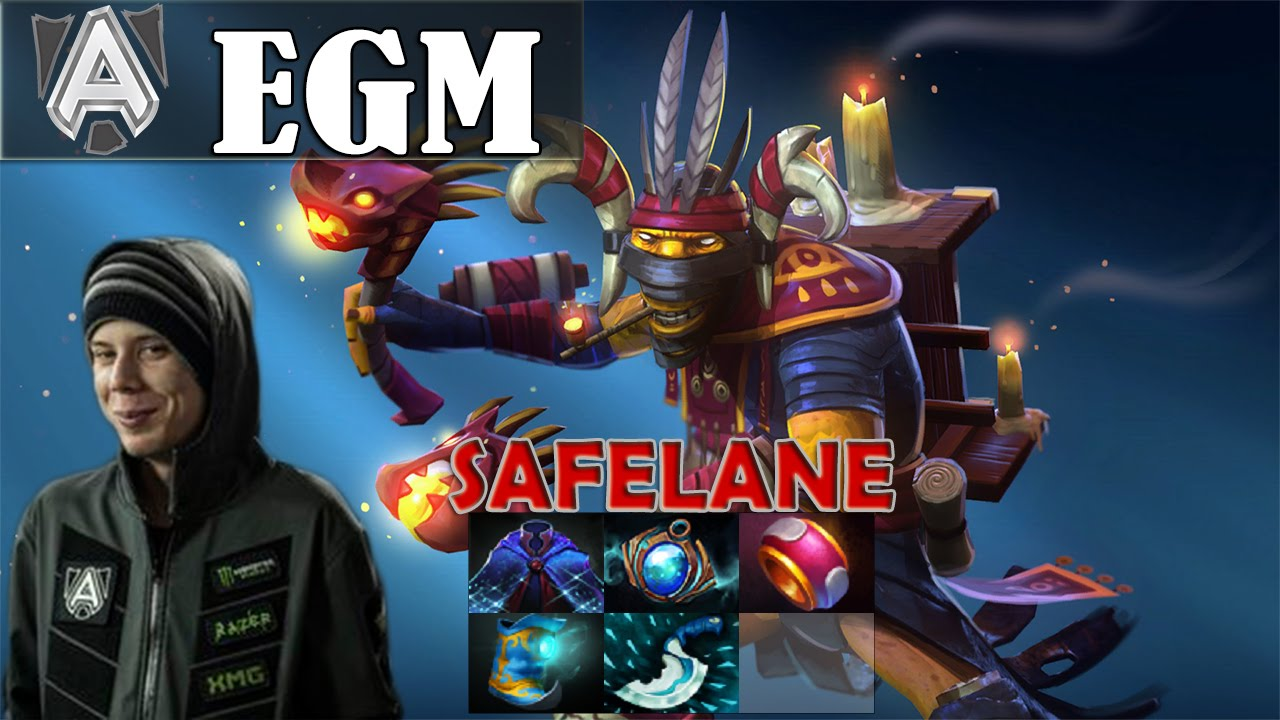 egm shadow shaman safelane pro gameplay dota 2 mmr youtube