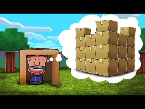 Minecraft | MOST SECURE BOX FORT CHALLENGE! (Box Fort Base Defense)