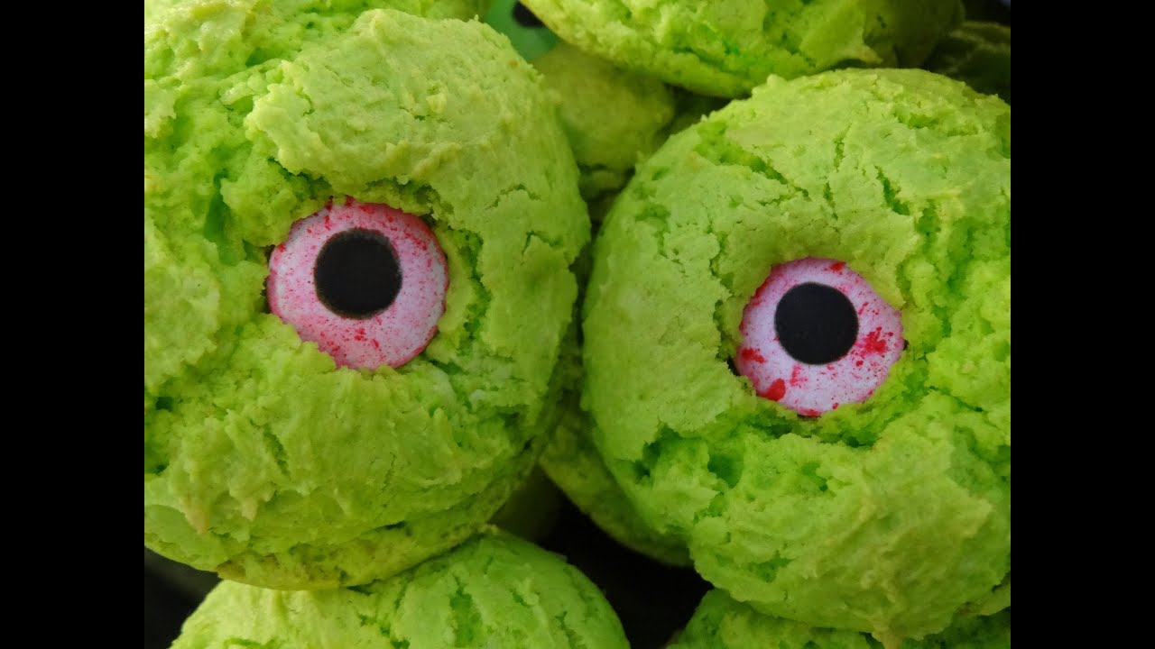 Monster Eye Cookies for Halloween- with yoyomax12 - YouTube