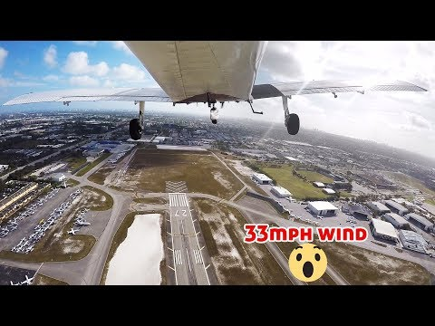Scary Situation Landing In Strong Wind