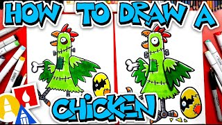 How To Draw Franken-Chicken With Mrs. Hubs