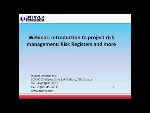 Introduction to project risk management: Risk Registers and
