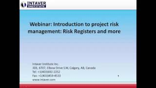 Introduction To Project Risk Management Risk Registers And More