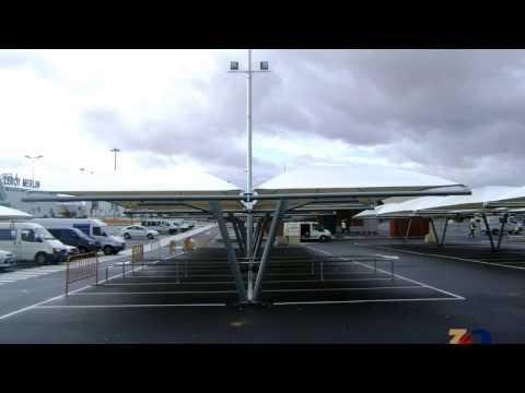 Marquesinas de parking y cubiertas textiles - Europa Prefabri