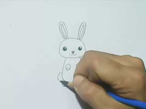 How To Draw A Cartoon Rabbit Cute Style Youtube