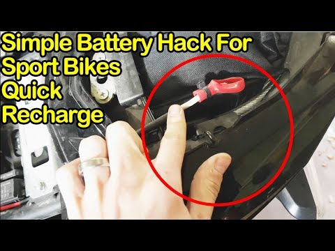 Hack Battery for Quick Charging on Sport Motorcycle
