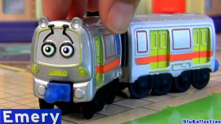 Chuggington Emery with Hoot and Toot diecast talking trains toys review