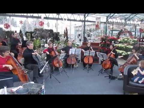 """Seattle Philharmonic Orchestra Cello Choir plays """"White Christmas"""""""