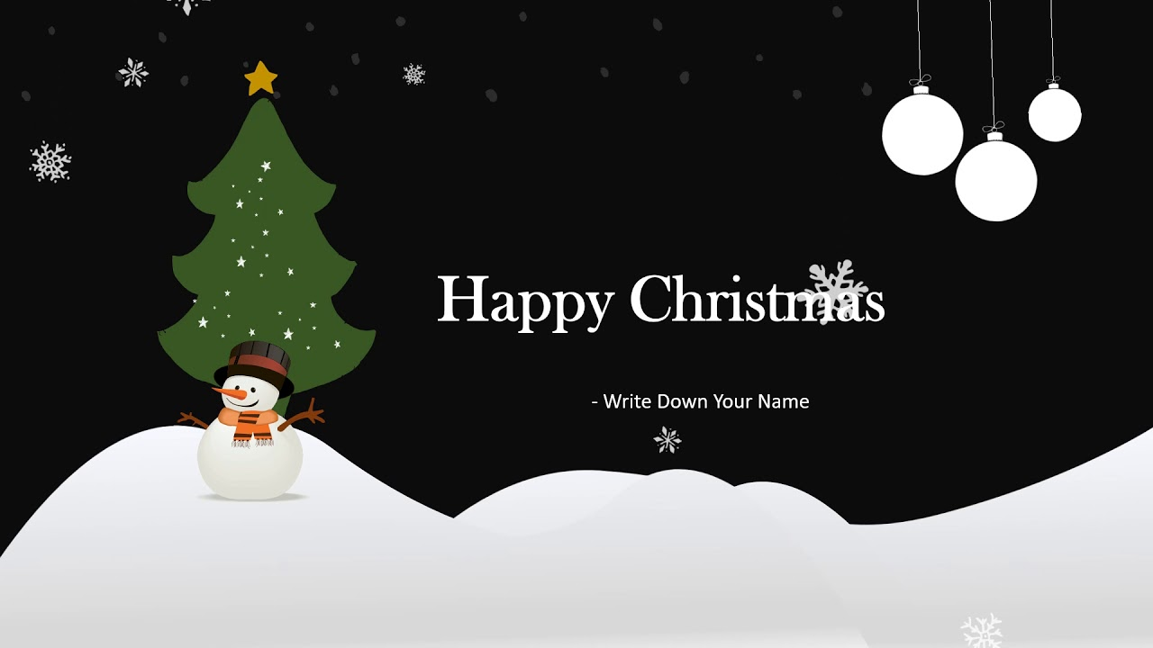 Download Free Animated Christmas Greeting Card For