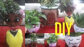 Easy way to mąke diy planter from waste material   Diy planter   idea to reuse plastic    recycle