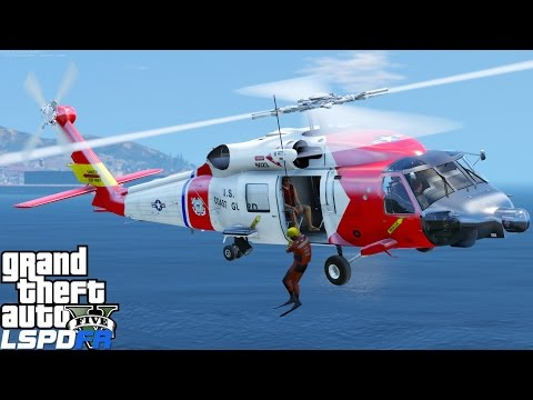 GTA 5 LSPDFR USCG Coastal Callouts |Helicopter Rescue With The Jayhawk|United States Coast Guard Mod