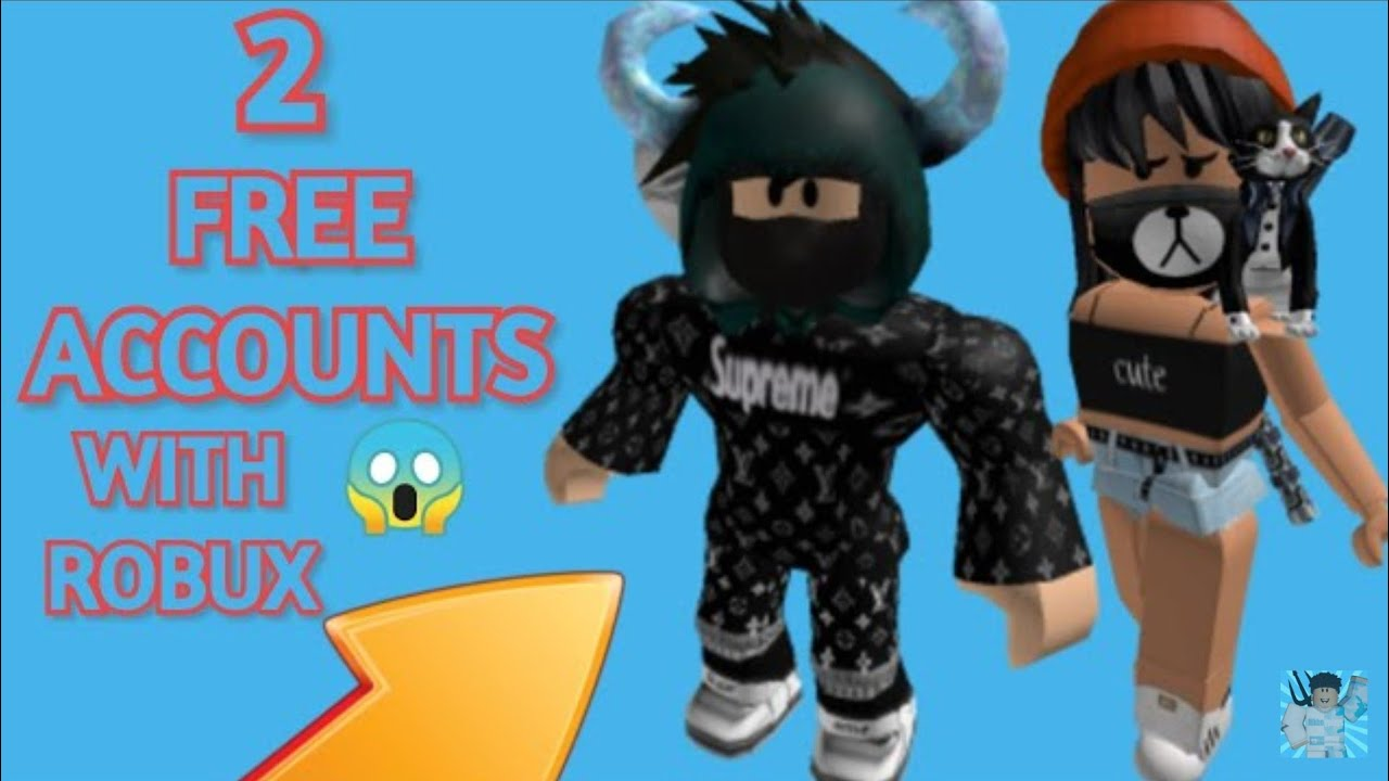 2 Free Roblox Accounts With Robux And Robux Items Boys Girls 2020 Youtube