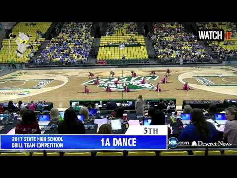 1A Rich High School Drill Team Overall 5th 2017 Utah State Competition