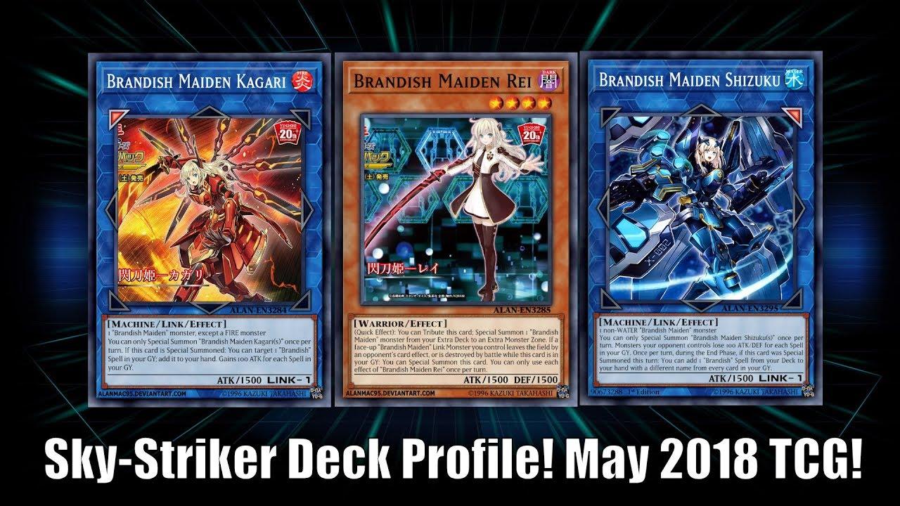 Yu Gi Oh! Sky Striker (Brandish Maiden) Deck Profile! May 2018 TCG