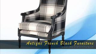 Jepara Furniture.us   Reproduction Of Antique French Black Painted Furniture