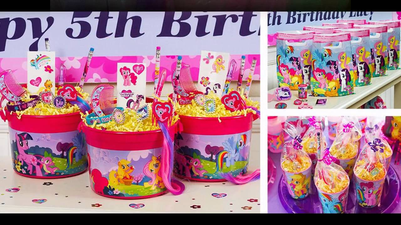 My little pony party themed decorating ideas - YouTube