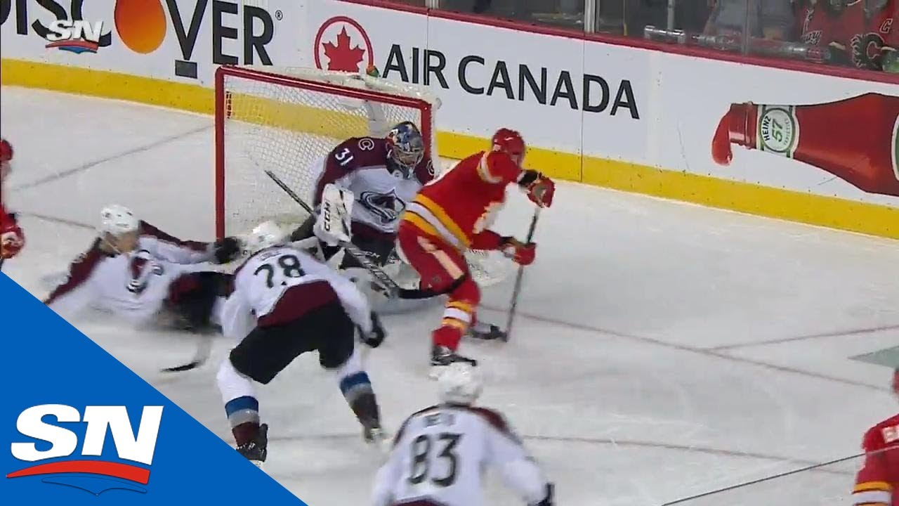 Flames Strike Vs. Avalanche As Sam Bennett's No-Look Pass Finds Rasmus Andersson