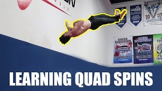 ATTEMPTING QUAD SPINS?! *EXTREMELY DANGEROUS*