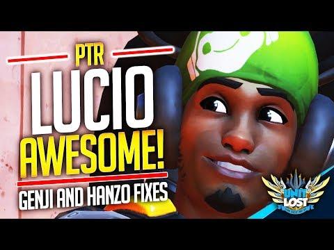 Overwatch - Lucio NEW Wall Ride Option?! Genji and Hanzo Fixes!