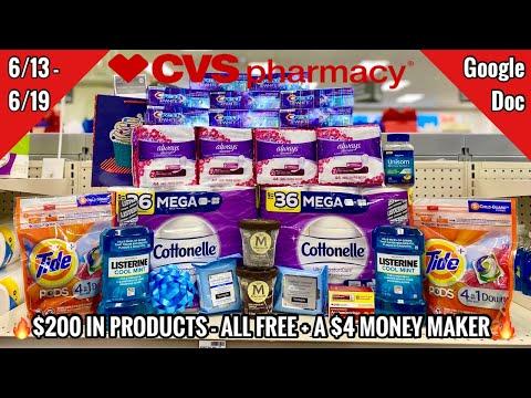 CVS Free & Cheap Coupon Deals & Haul  6/13 – 6/19   $4 Money Maker – Rebates Galore   $200 SAVED 🙌🏽