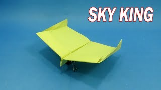 New Record Paper Cool Plane That Fly Over 100 Meter - Amazing Paper Craft Plane - Easy Origami plane