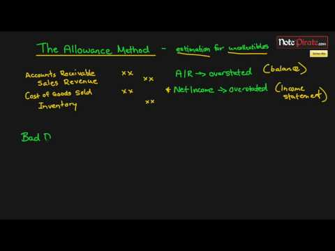 Allowance For Doubtful Accounts And Bad Debts Expense Part 2 (Financial Accounting Tutorial #42)