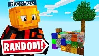 Minecraft SKYBLOCK BUT EVERY BLOCK IS RANDOM..