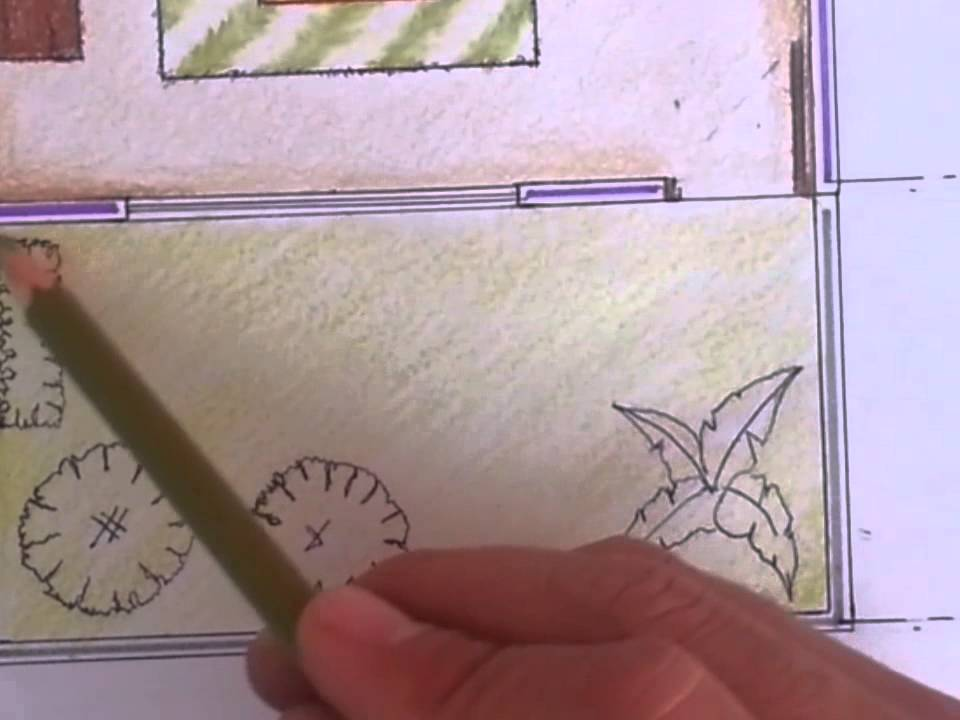 Tutorial dibujo arquitectonico 6 jardin youtube for Dibujo arquitectonico