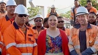 HRH Princess Angelika Lātūfuipeka Tuku'aho kind delivery of meals to Tonga Power Line Mechanics