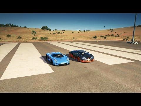 Koenigsegg REGERA vs Bugatti VEYRON SS Drag Race | Forza Horizon 3
