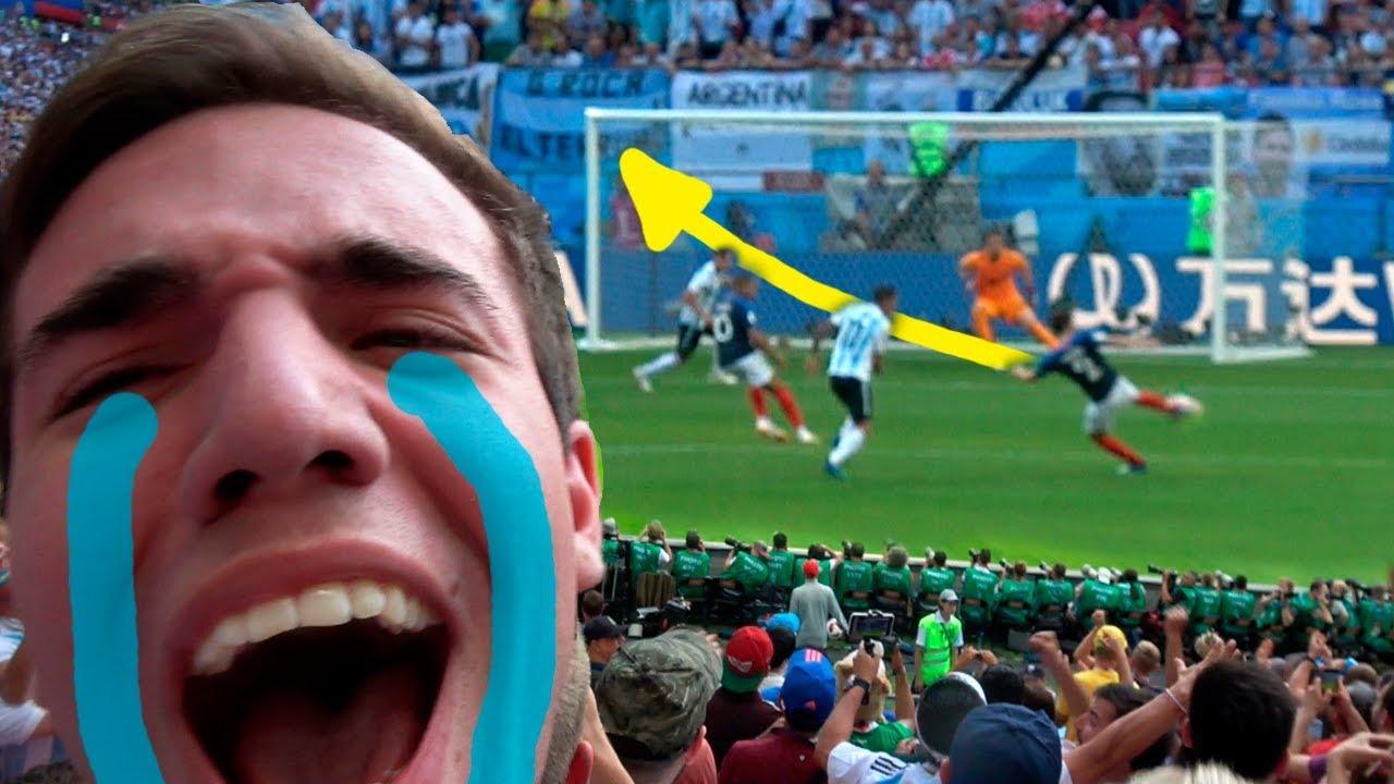 Argentina vs Francia 3-4 REACCIONES DE UN HINCHA EN RUSIA MUNDIAL 2018