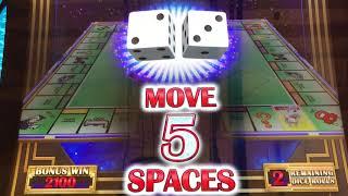 Monopoly Hot Shot slot machine at Caesars Palace. #Awesome Bonus