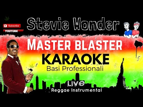 "MASTER BLASTER ""JAMMING"" (Stevie Wonder) BASE KARAOKE LIVE + CORI e TESTO Hd"