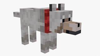 Minecraft. Волк-собака своими руками.