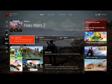 Xbox One March Update Walkthrough