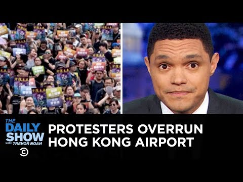 """Protests at Hong Kong's Airport & A Terrifying Open-Carry """"Prank"""" 