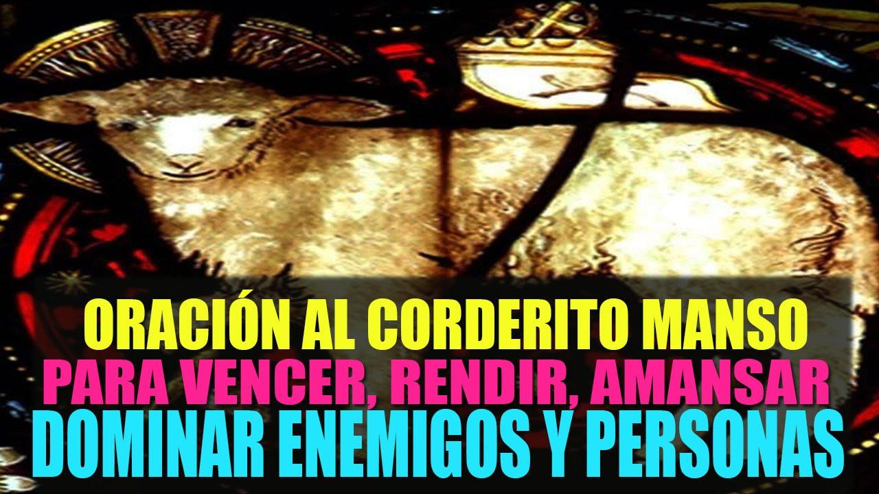 Oración al Corderito Manso para vencer, rendir, amansar y dominar ...