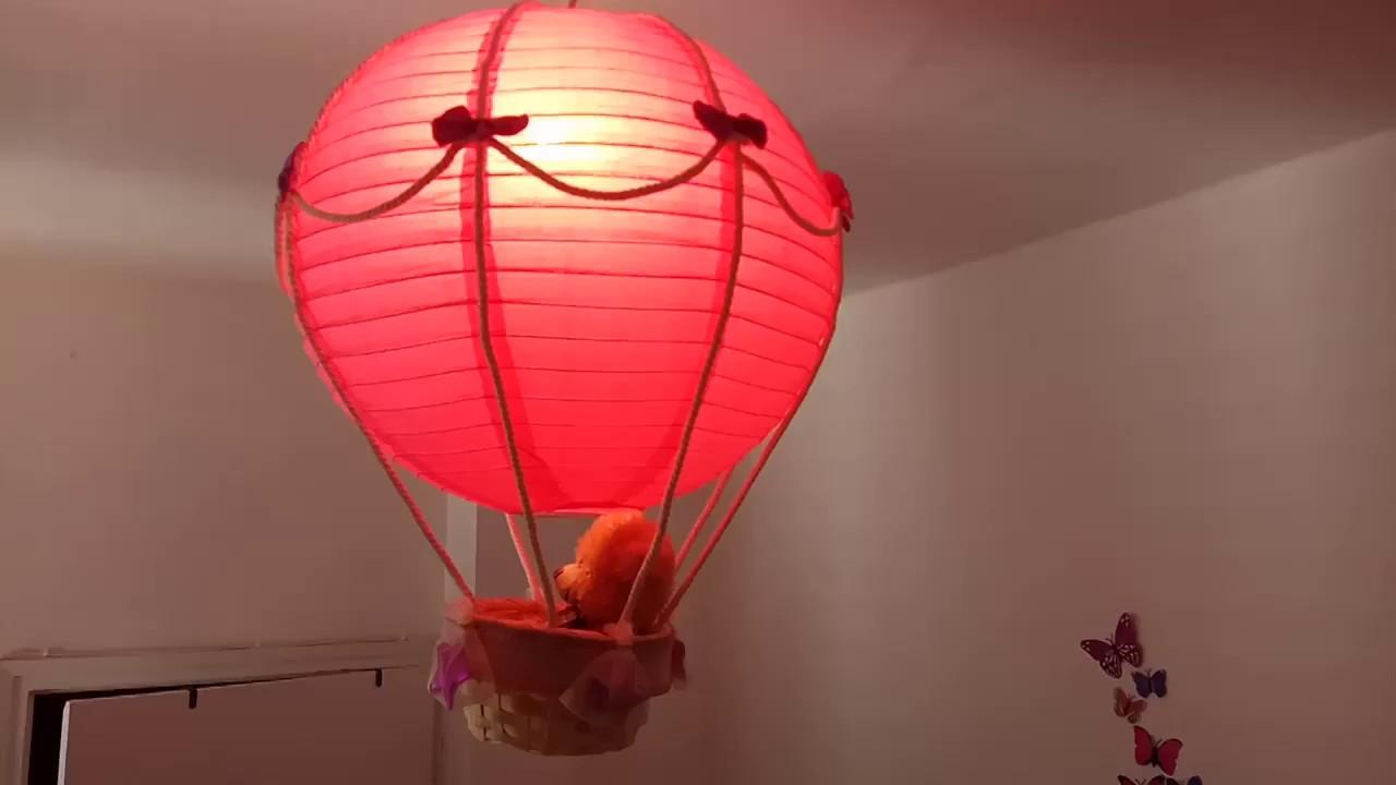 Hot air balloon lamp light shade pink teddy bear handmade craft hot air balloon lamp light shade pink teddy bear handmade craft aloadofball Images
