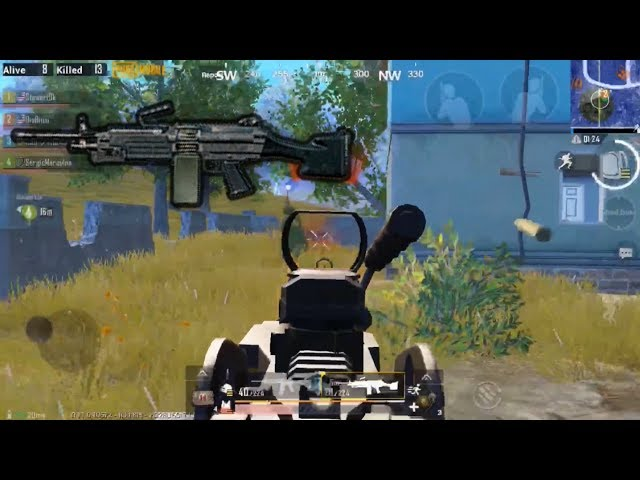 M249 Spraying Spree   PUBG Mobile