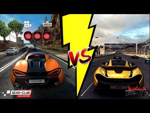 Gear Club VS Grid Autosport - Gameplay Comparison 2017